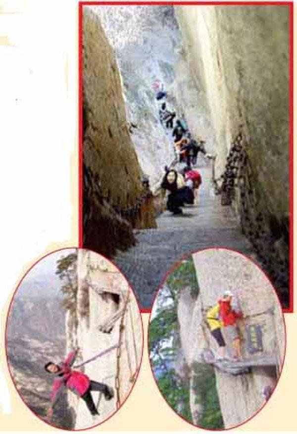 کوهپیمایی عجیب روی پل ۷۰۰ ساله+عکس