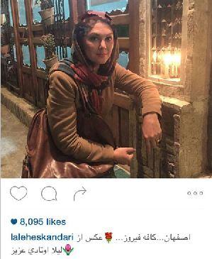 لیلا اوتادی و لاله اسکندری در شهر اصفهان+تصاویر