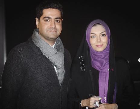 آزاده نامداری در کنار همسرش سجاد عبادی درحاشیه جشنواره فیلم فجر+تصاویر
