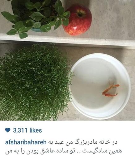 سادگی عید در خانه مادربزرگ بهاره افشاری+عکس
