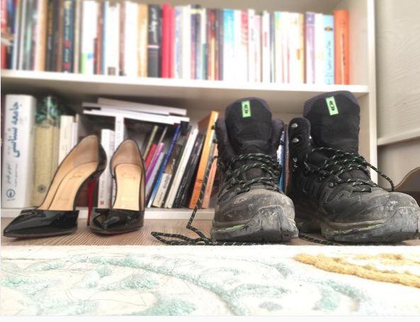 الناز شاکردوست : امروز صبح ساعت ها به این کفش ها نگاه میکردم!+عکس