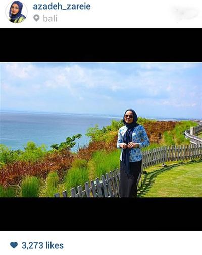 آزاده زارعی در جزیره زیبای بالی در اندونزی+عکس