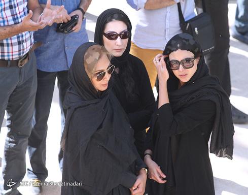 آزاده صمدی, سحر دولت شاهی و باران کوثری در تشییع جنازه ایرج کریمی +تصاویر