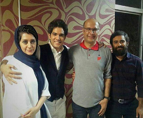 امیرعلی نبویان در کنار همسرش+عکس