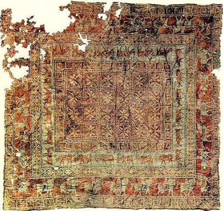 تصویر : قدیمی ترین قالی جهان