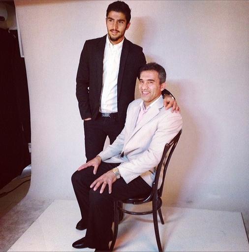 عکس آتلیه ای جالب از عابدزاده و پسرش