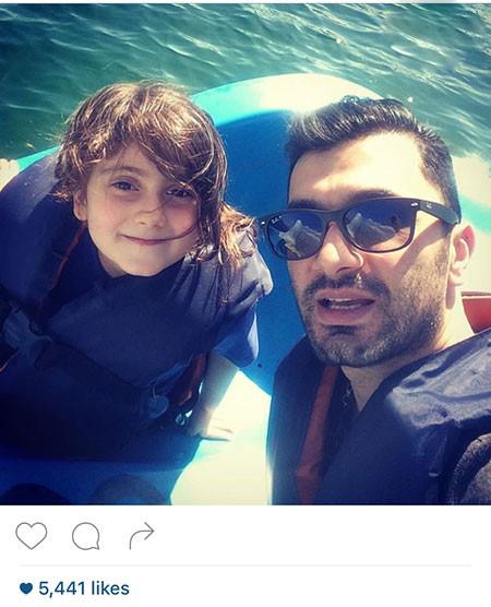 فرهاد ظریف والیبالیست مشهور و دخترش ترمه+تصاویر