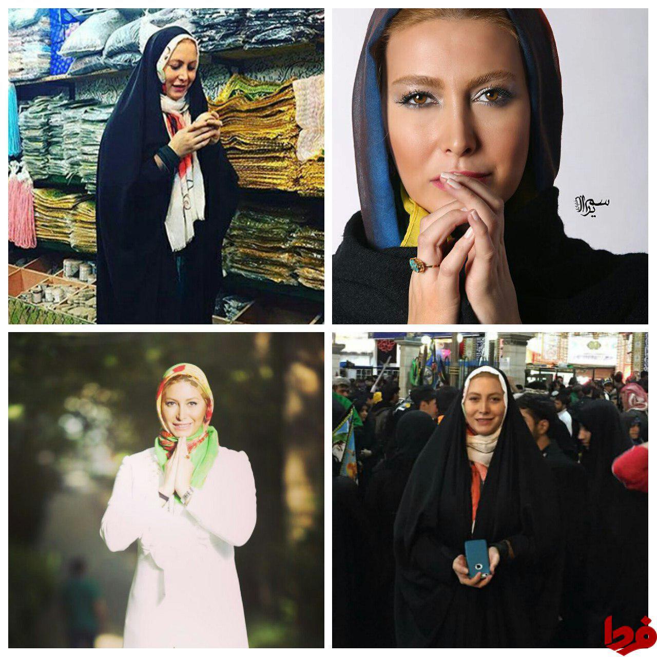 فریبا نادری :نماز میخوانم و مرجع تقلیدم آیتالله مکارم شیرازی هستند+تصاویر