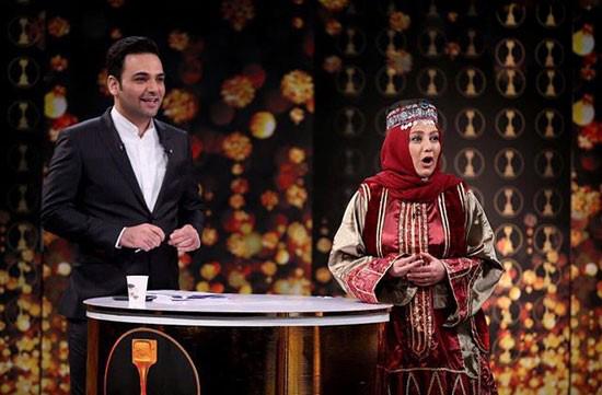 احسان علیخانی و عکسهای او در برنامه سه ستاره+تصاویر