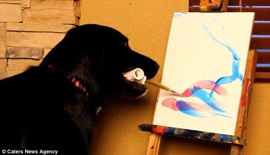نقاشی های خارق العاده یک سگ+عکس