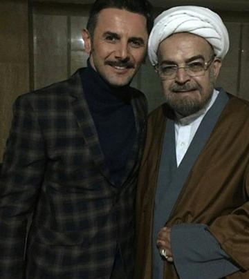 امین حیایی در کنار حاج آقا حمید لولایی! +عکس