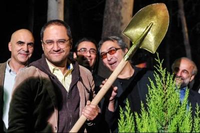 عادل فردوسی پور، علی دایی، رامبد جوان و مرضیه برومند درخت کاشتند+عکس