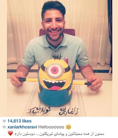 کیک تولد زانیار در اینستاگرام+عکس