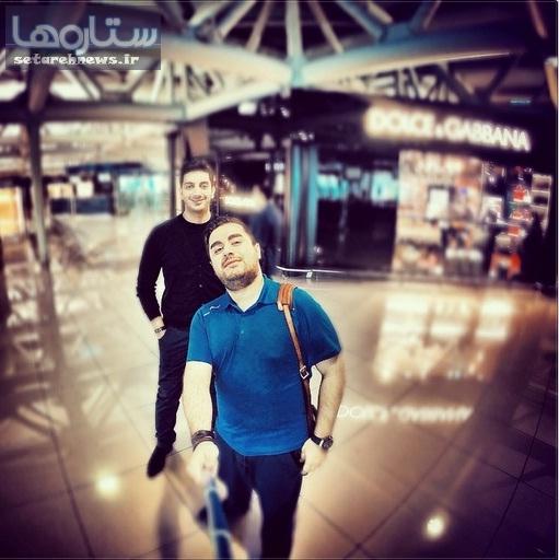 عکسی جالب ازفرزاد فرزین در فرودگاه رم