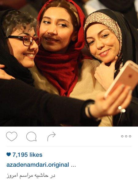 آزاده نامداری به همراه بازیگران زن و در قشم!+تصاویر