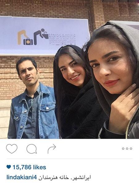 لیندا کیانی از ایرانشهر تا عکس در کنار عباس غزالی+تصاویر