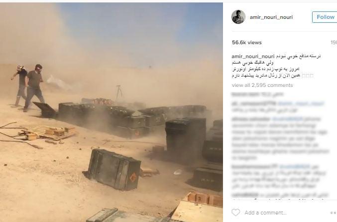 توضیحات امیر نوری درباره همراهی با مدافعان حرم و نمایی از وی در عملیات جنگی!+تصاویر