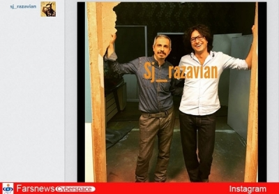 جواد رضویان از یک اتفاق در سریال در حاشیه پرده برداشت+عکس