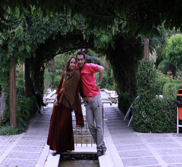 تصویر : سپیده خداوردی همراه همسرش