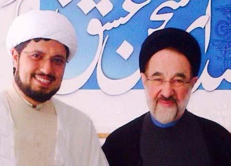 پسر صادق آهنگران همراه با محمد خاتمی + عکس