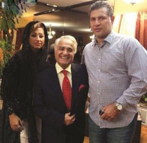 علی دایی و همسرش در کنار آهنگساز مطرح+عکس