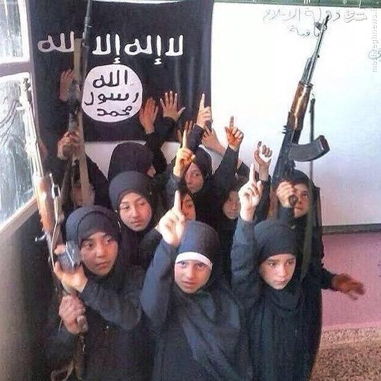 مدرسه دخترانه داعشیها +عکس
