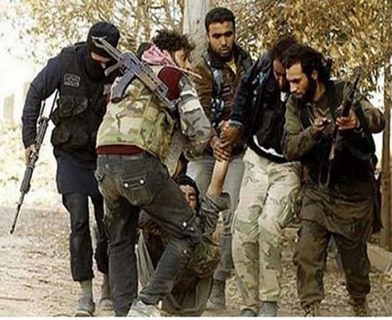 روش جدید اعدام داعش+ عکس