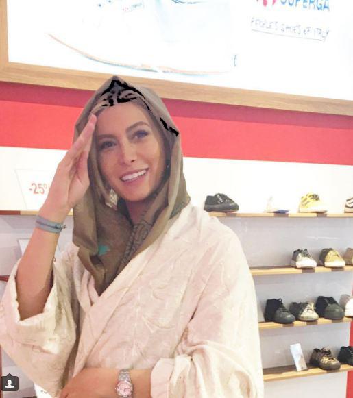 فروشگاه فریبا نادری و دوستش در ابتدای کرج!+تصاویر