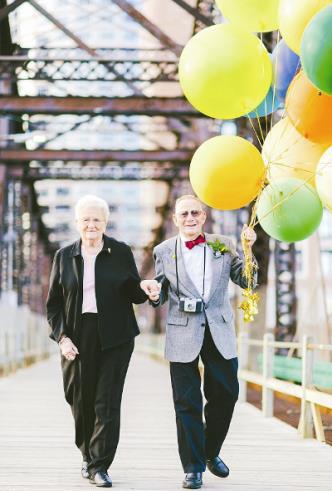 تصویر : مراسم عروسی بعد از شصت سال زندگی