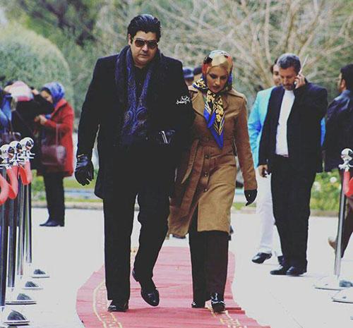 سالار عقیلی و همسرش در مراسم فرش قرمز+عکس