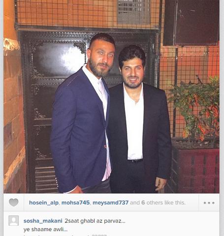 سوشا مکانی در کنار تاجر معروف ایرانی+عکس