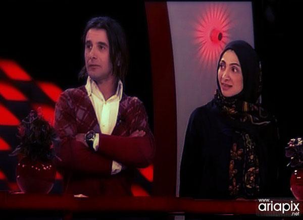 عکسهای امین حیایی و همسرش دربرنامه شبکه دو سیما