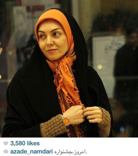 آزاده نامداری در کاخ جشنواره فیلم فجر ۹۳ +عکس