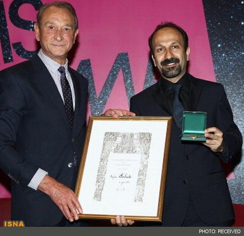 اعطای مدال«ورمیل» به اصغرفرهادی+عکس