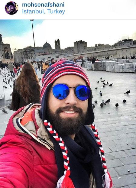 محسن افشانی از سلفی در استانبول تا کاخ جشنواره+تصاویر