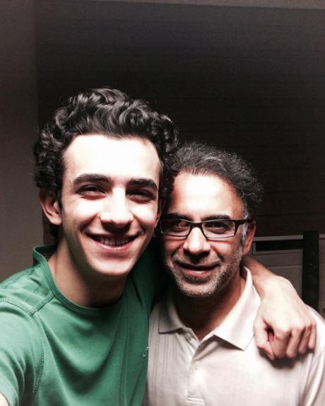سلفی دیدنی علی شادمان و پدرش!+عکس