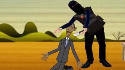 گردن زدن اوباما توسط داعش! + عکس