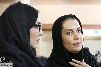 بازیگران زن در مراسم مرحوم انوشیروان ارجمند+تصاویر