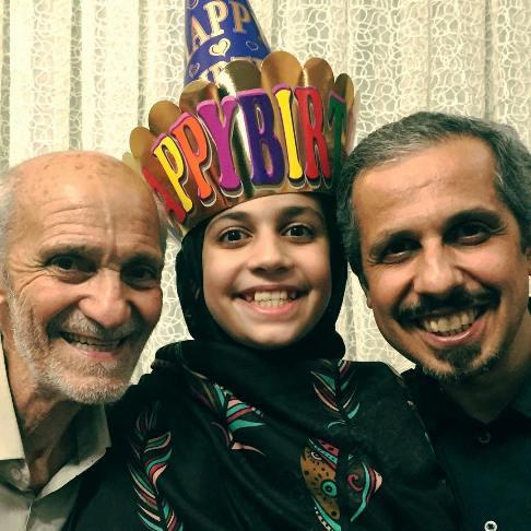سید جواد رضویان و پدرش در جشن تولد دخترش یامین خانوم!+عکس