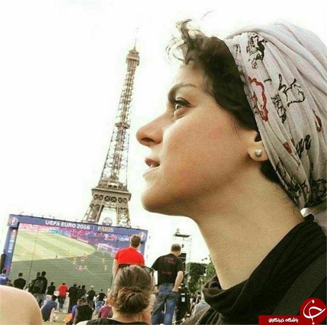 غزل شاکری بازیگر زن سریال شهرزاد در مسابقات یورو ۲۰۱۶!+عکس