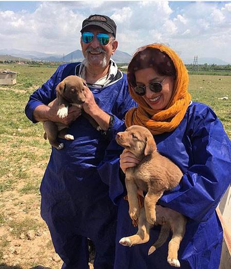 شقایق فراهانی و زوج هنرمند و مهربانی با حیوانات+تصاویر