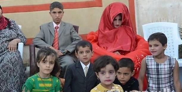ازدواج اجباری پسر ۱۴ ساله عراقی+عکس