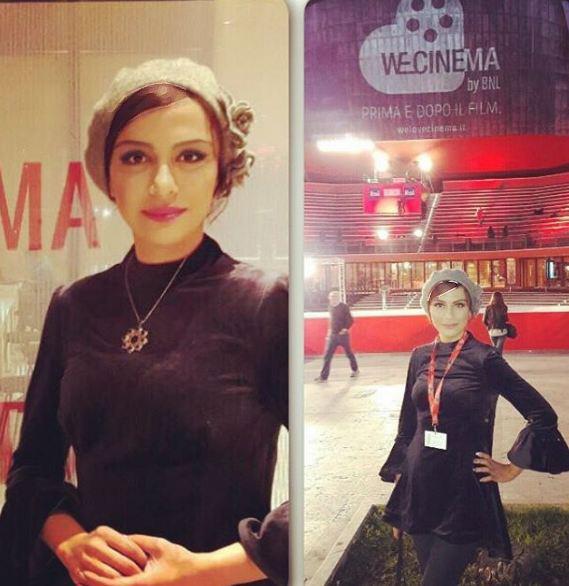 پوشش مارال فرجاد در فستیوال فیلم رم!+تصاویر