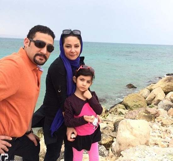 لاله صبوری کنار شوهر و دخترش + عکس