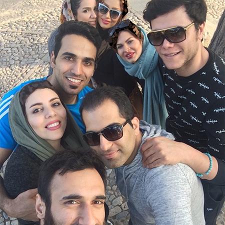 سلفی ستاره های ملی پوش والیبال با همسرانشان +عکس