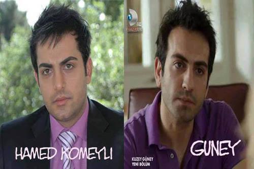 شباهت عجیب حامد کمیلی با بازیگر سریال ترکیه ای+عکس