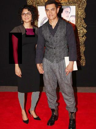 تصویر : امیرخان و همسرش