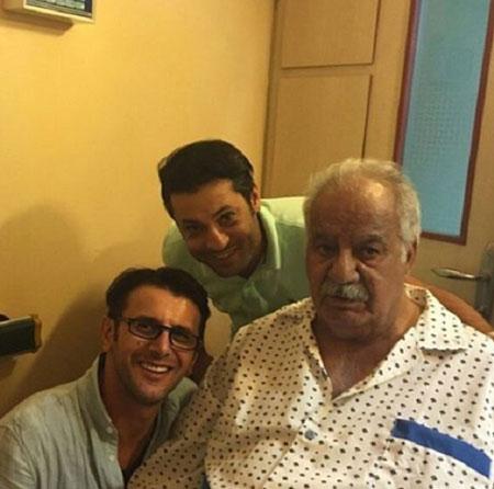 امین حیایی با ملک مطیعی در بیمارستان وسلفی شجریان با همسرش+تصاویر