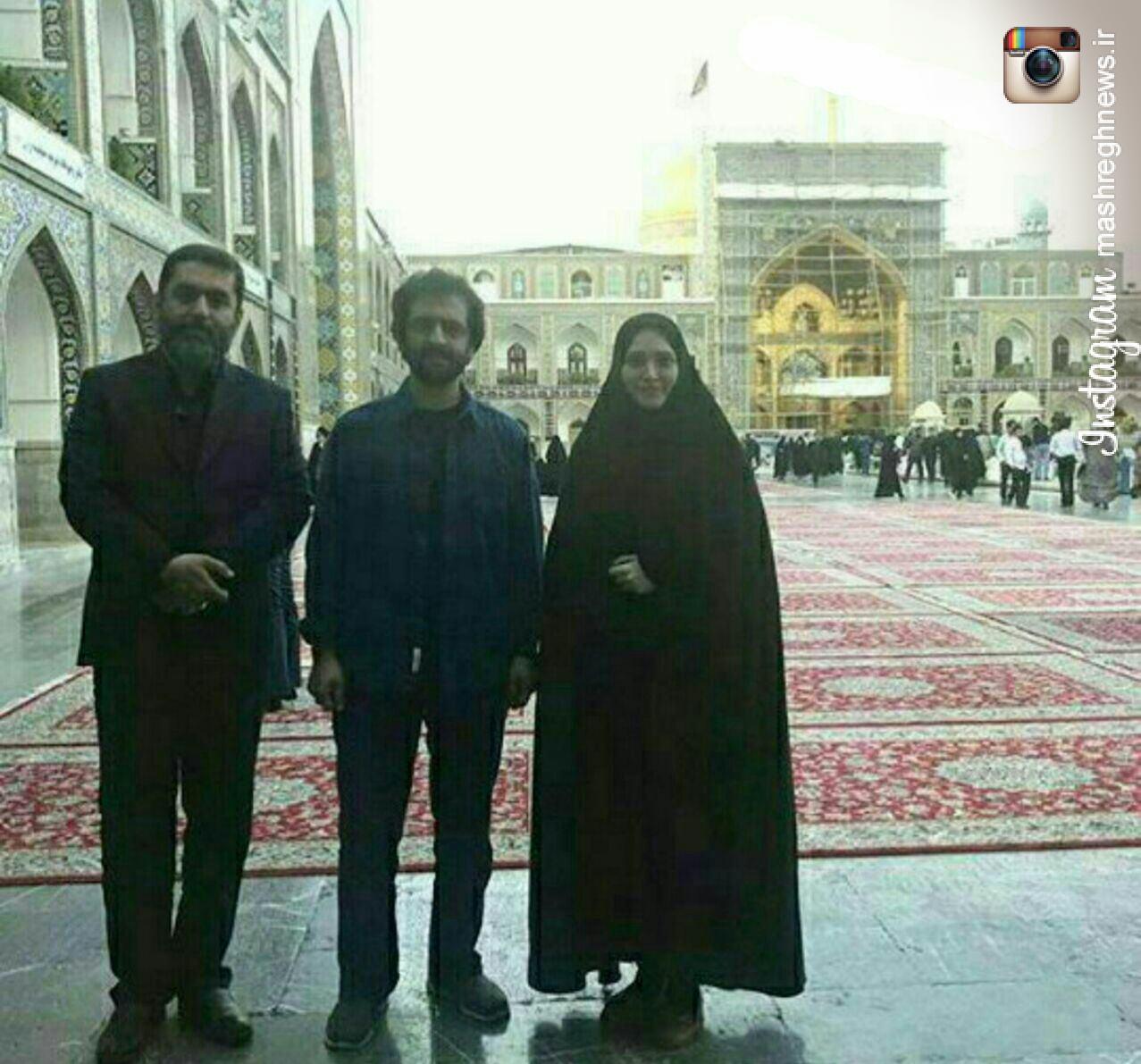 بازیگران فیلم «سیانور» در حرم امام رضا(ع)+عکس