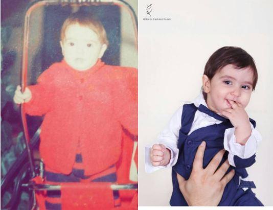 عکسهای کودکی سپیده خداوردی و پسرش!+تصاویر